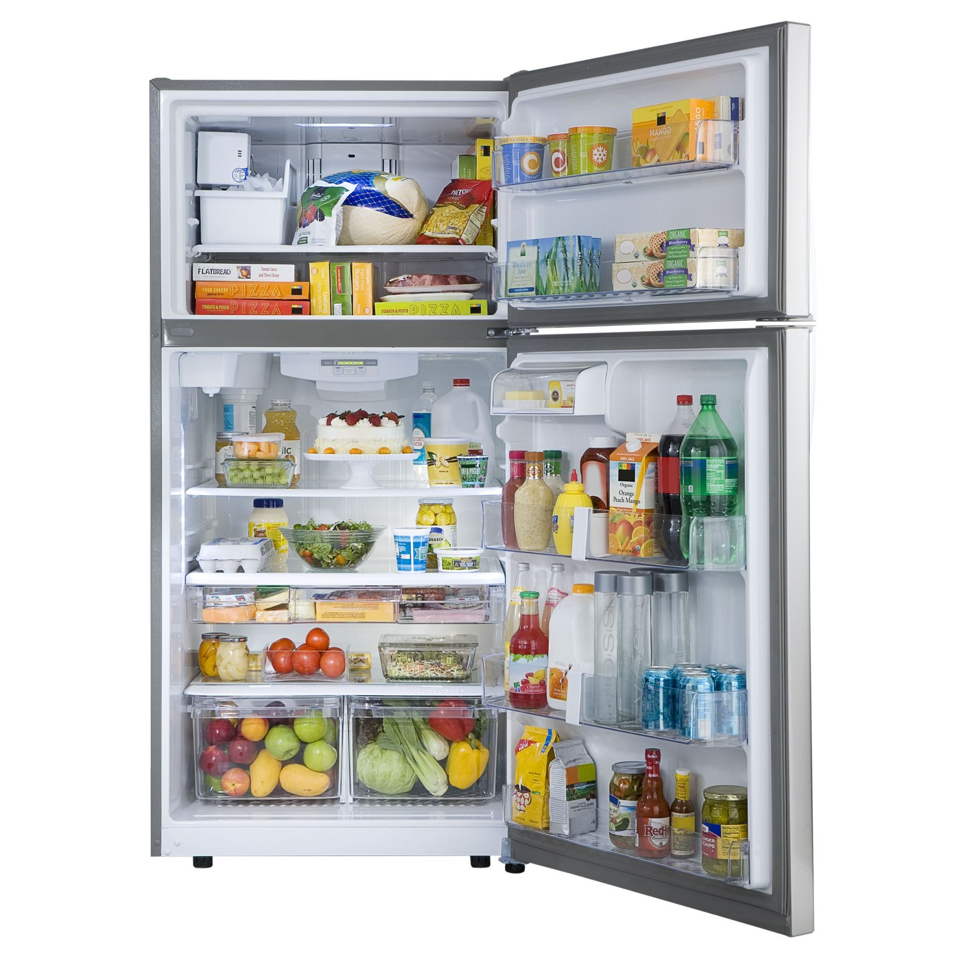 Kenmore 79433 23 8 Cu Ft Top Freezer Refrigerator W Internal Water Dispenser Stainless In 2020 Top Freezer Refrigerator Refrigerator Large Refrigerator