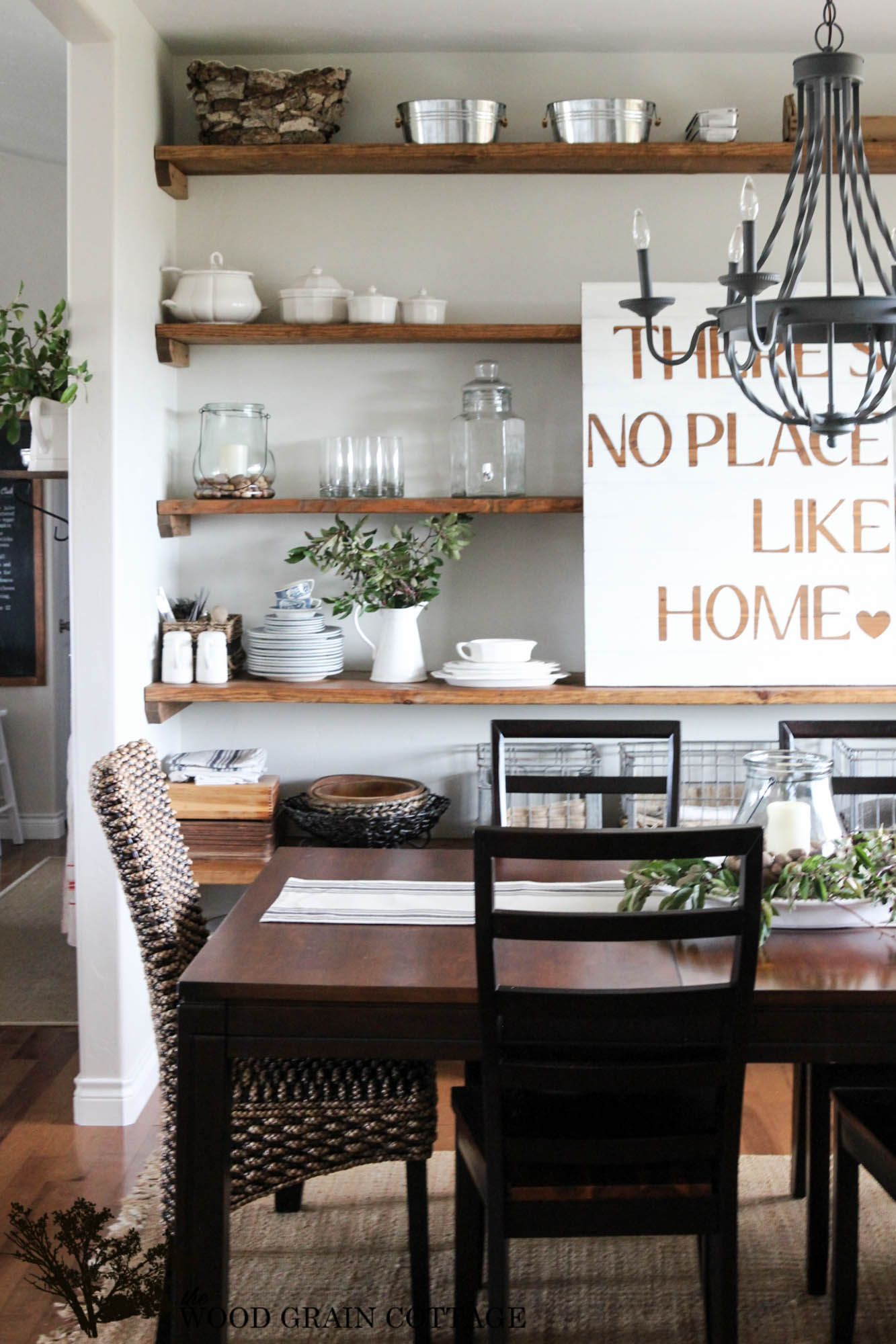 Open Shelving image by Michelle Hawkins Dining room