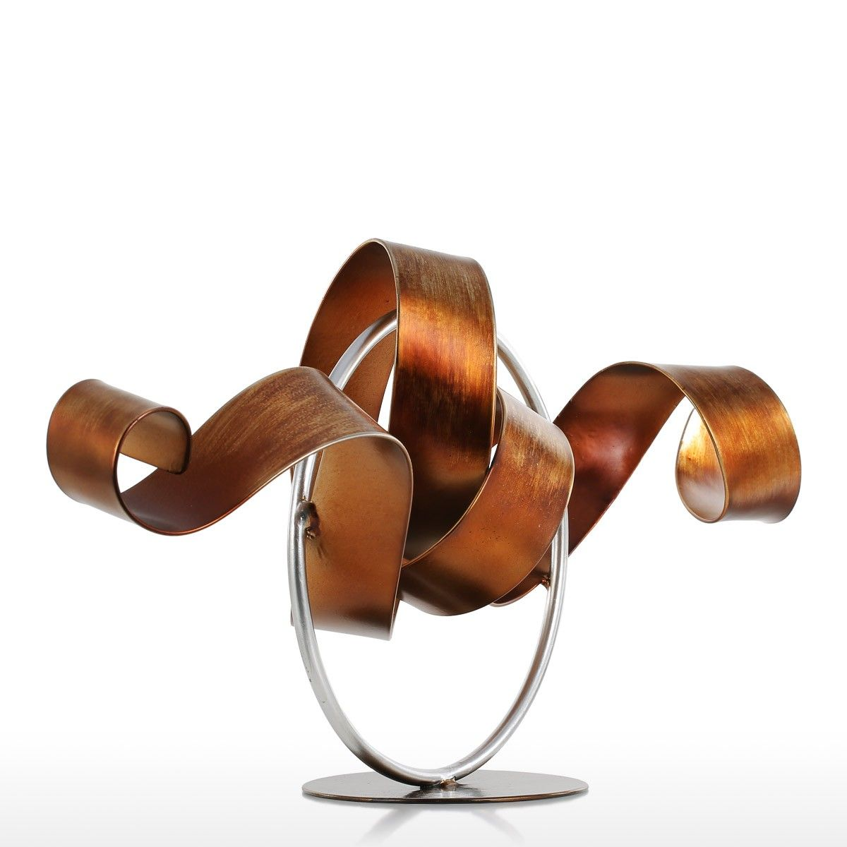 Modern Home Decorative Object Metal Craft Sculpture Abstract ...