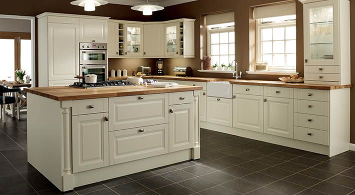 Hatfield cream kitchen unit 50 off kitchens plus vat for Kitchen cabinets 50 off