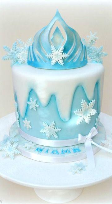 21 Disney Frozen Birthday Cake Ideas and Images Queen elsa Elsa