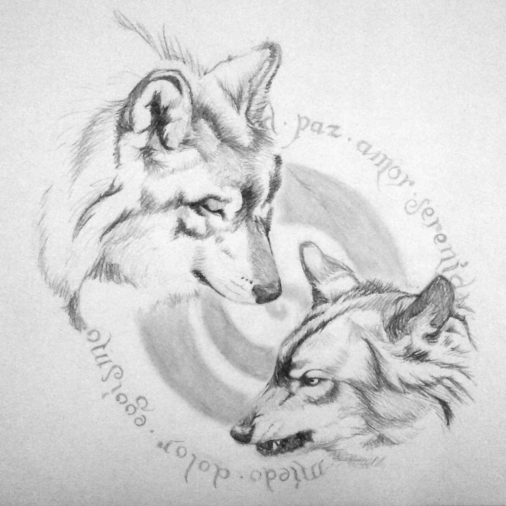 What Wolf You Feed Today Tattoo Design Tattoo Designs Two Wolves Wolf Tattoos