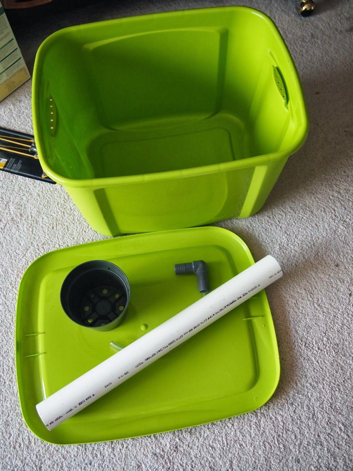 "Rumtea's Hobbies: Self watering planter - Homemade ""Earthbox"""