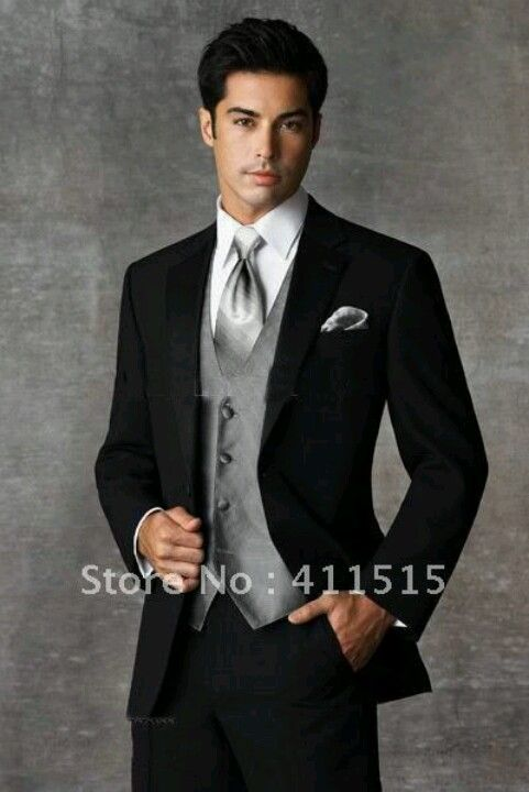 Possible suit for groom, different color vest and tie | Dream ...