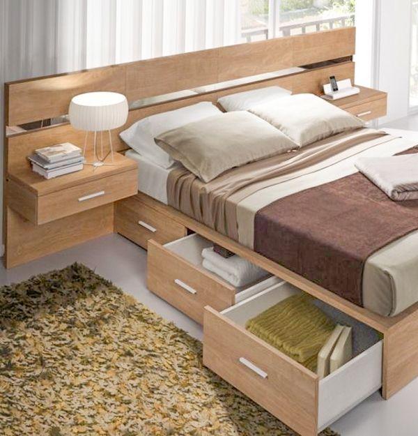 Pensando em quem tem pouco espaço n quarto, separamos camas - cabeceras de cama modernas