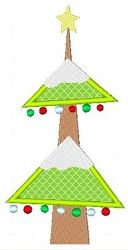 Tree, Large Applique - 5x7 | Winter | Machine Embroidery Designs | SWAKembroidery.com Stitch-Ville