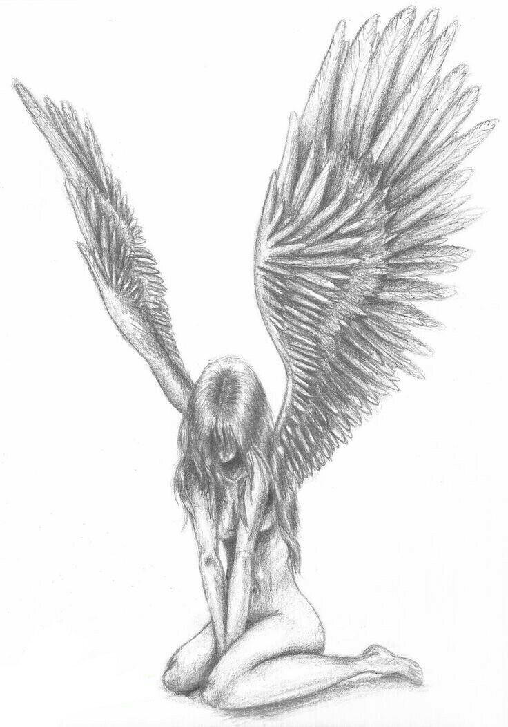 Pin by trin boyer on peoples creativity pinterest creativity fallen angel tattoo white angel fallen angels angel drawing quill pencil drawings altered bottles tattoo ideas art ideas thecheapjerseys Image collections