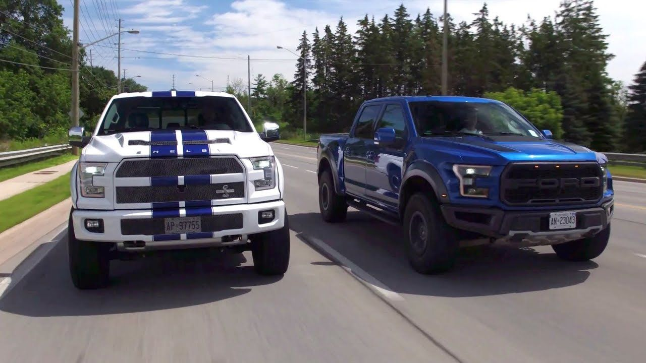 2017 Ford Raptor vs 700hp Shelby F150 Review - Yuri and ...