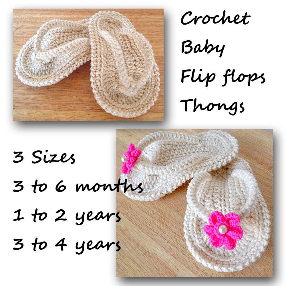 Crochet flip flops baby thongs pattern 3 sizes pdf crochet flip crochet flip flops baby thongs pattern 3 sizes pdf bankloansurffo Gallery