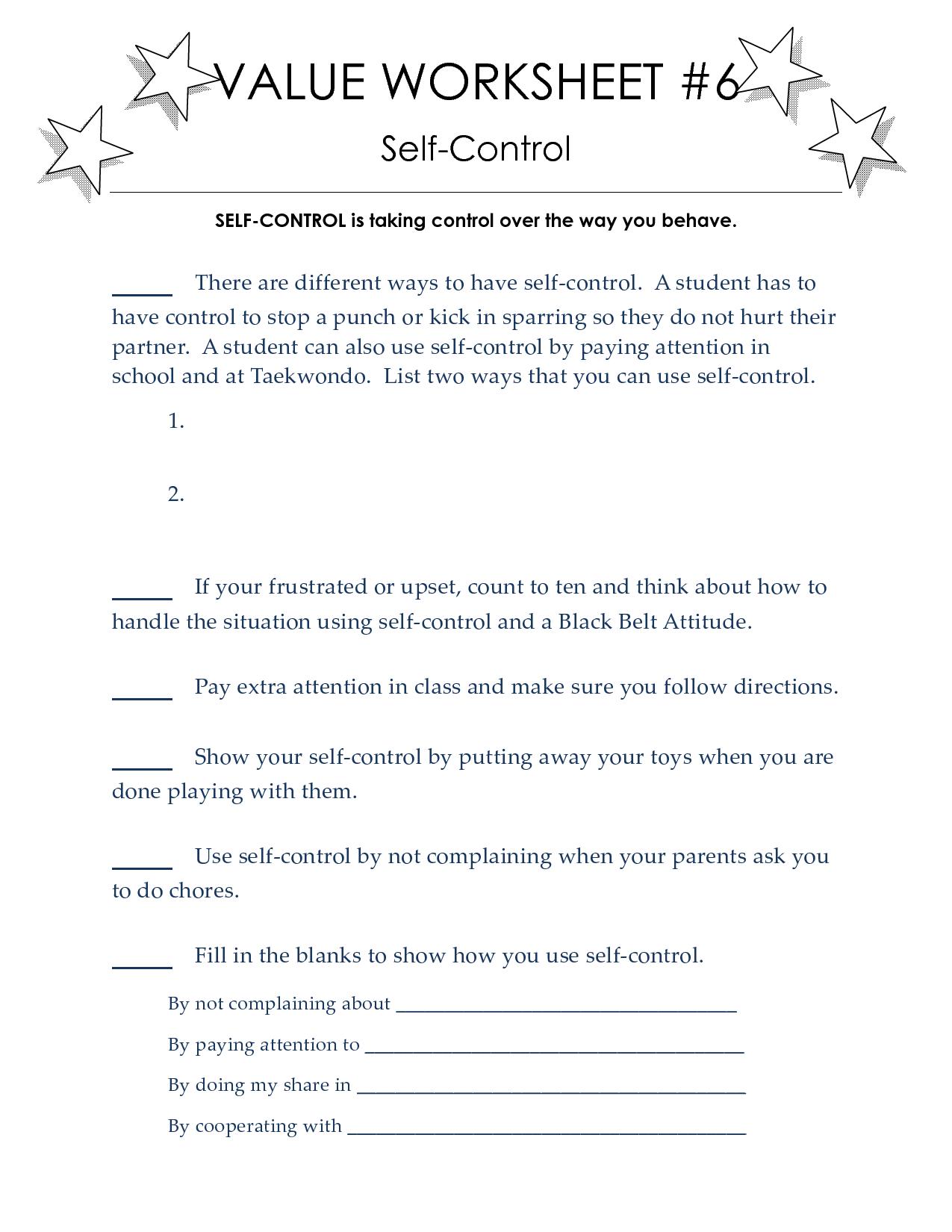 Taekwondo Worksheets To Print