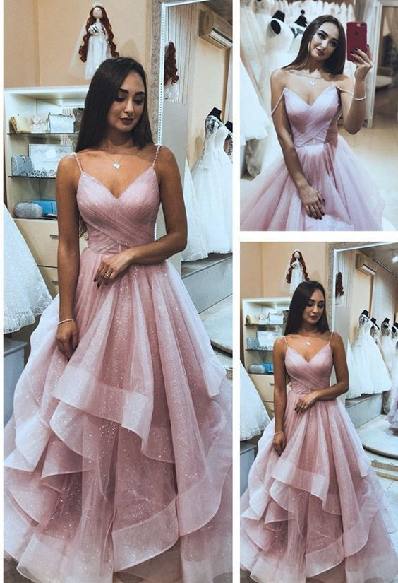 Princess Pink Long Prom Dress, 2019 Prom Dress, Graduation Dress Formal Evening Dress