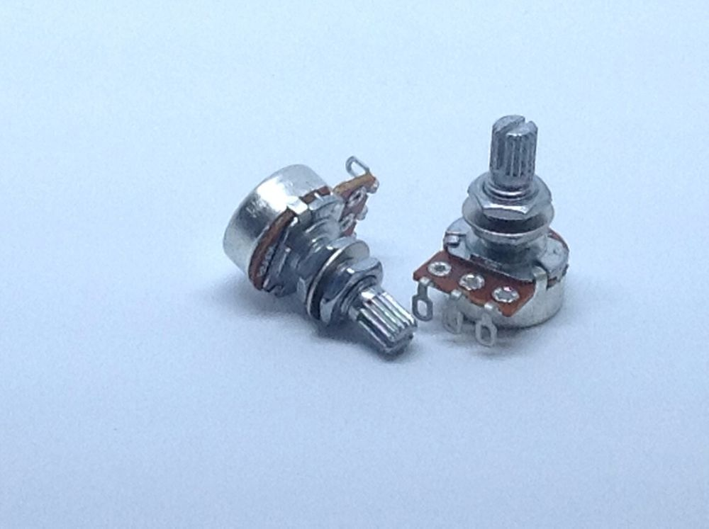 2 Mini 500K Linear Taper Metric Import Guitar Potentiometer
