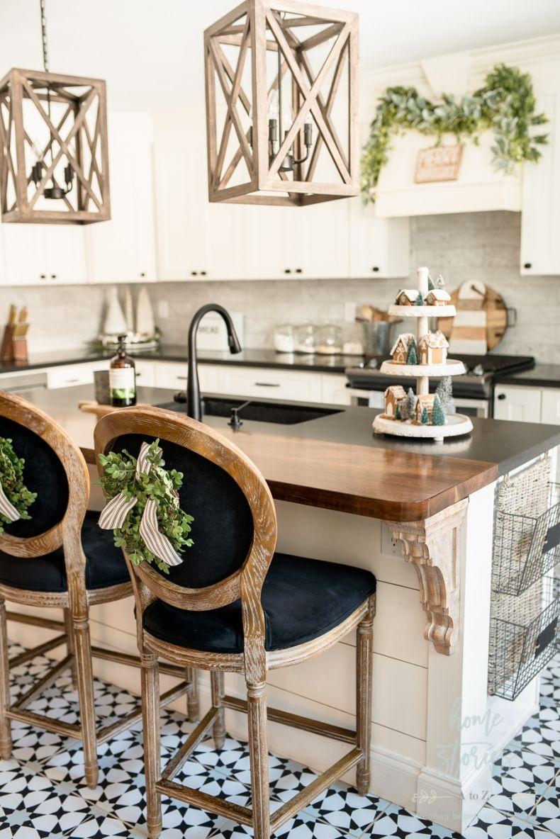black white farmhouse christmas kitchen kitchen style brown kitchens farmhouse christmas on farmhouse kitchen xmas id=36055