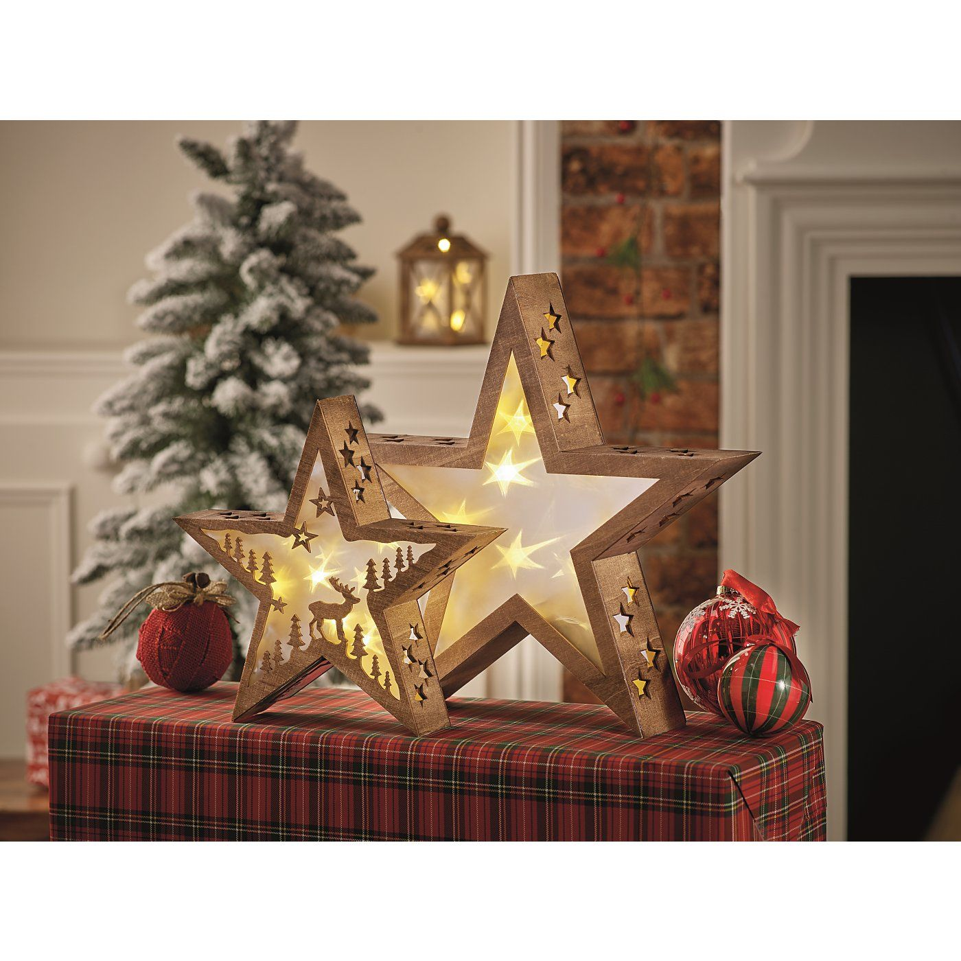Use decorations which stand rather than hang and scatter