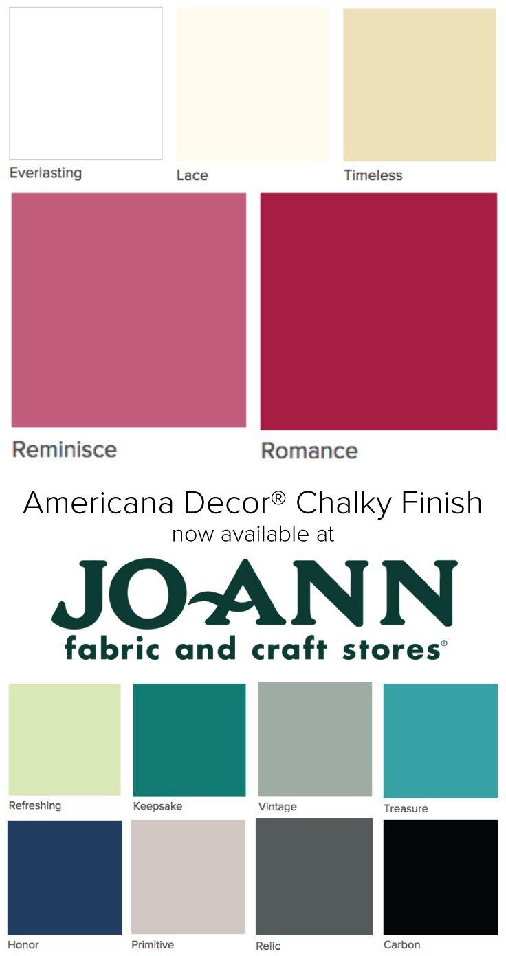 DecoArt Americana Chalky Finish Paint 8oz | Inspiration with DecoArt