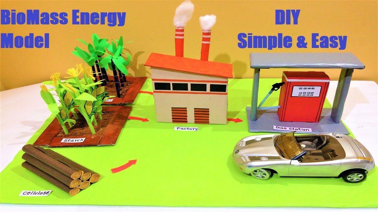 Biomass Energy Model Making For School Science Exhibition Diy Howtofunda Biomass Energy