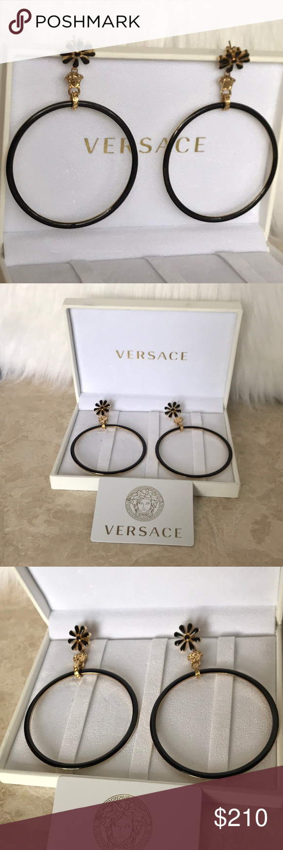 Versace earrings authentic boutique in my posh closet