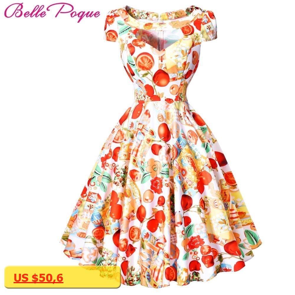 Belle poque women summer retro dress cotton short sleeve