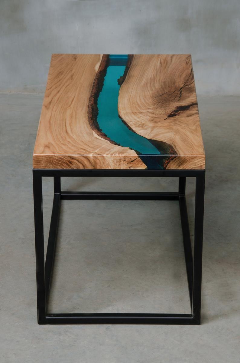 Personalisiert Live Rande Tisch aus Eiche, Fluss C