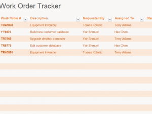 work order tracking template