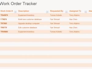 work order database template
