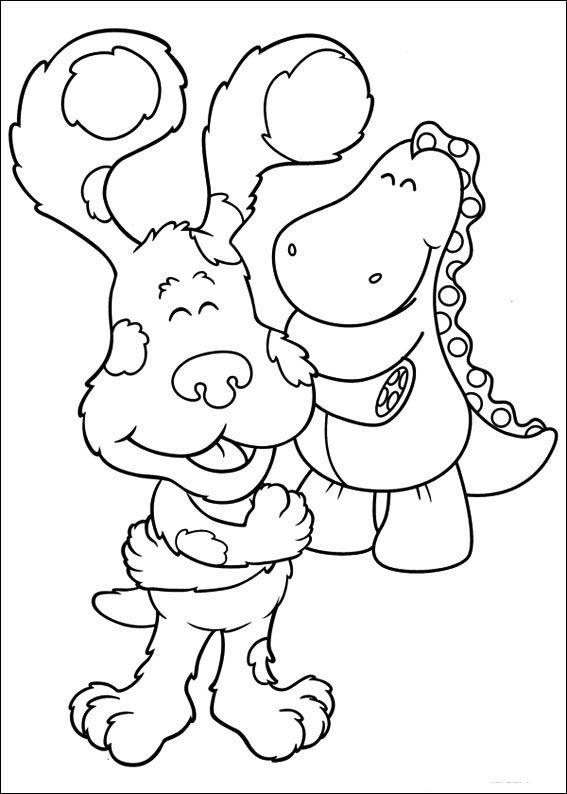 blue's clues 17 ausmalbilder für kinder malvorlagen zum