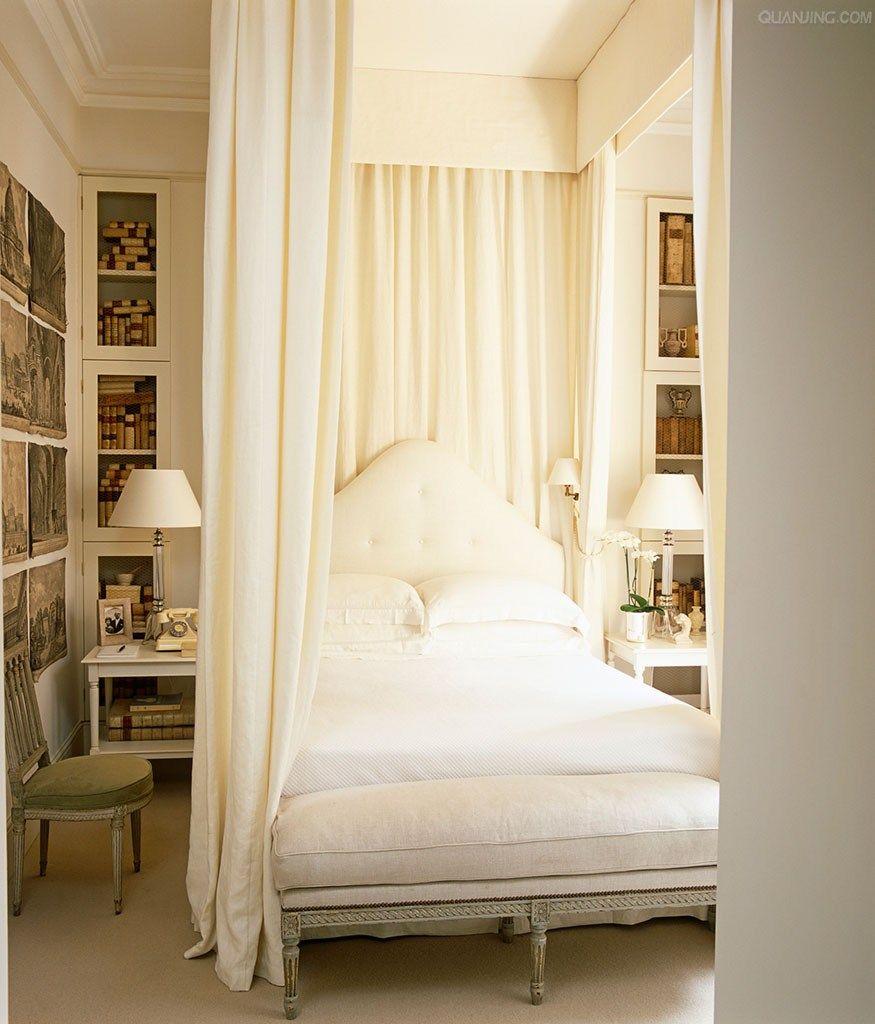 The Classy White Bedroom By Top London Designers: Elegant London Creamy White Bedroom