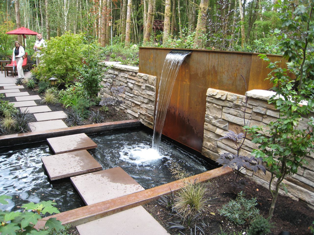 This would be a great facelift for our retaining wall for Water garden ideas designs