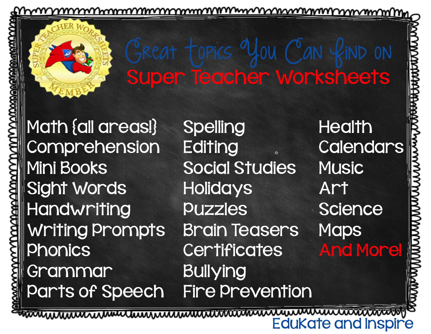 Super Teacher Worksheets A Review And Giveaway
