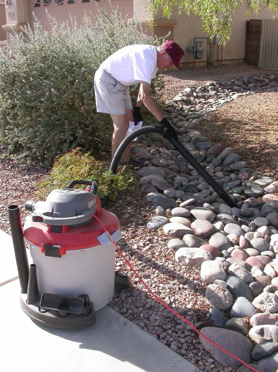 Rocks and turf landscape so what is the alternative for River rock yard ideas