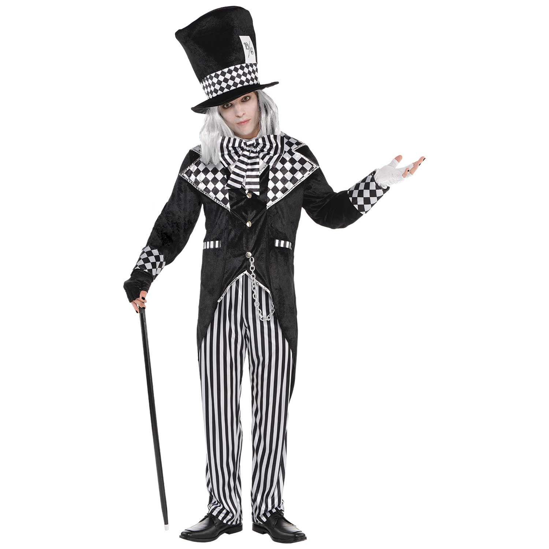 Alice in Wonderland Costume Adult Black and White Dark Halloween Fancy Dress
