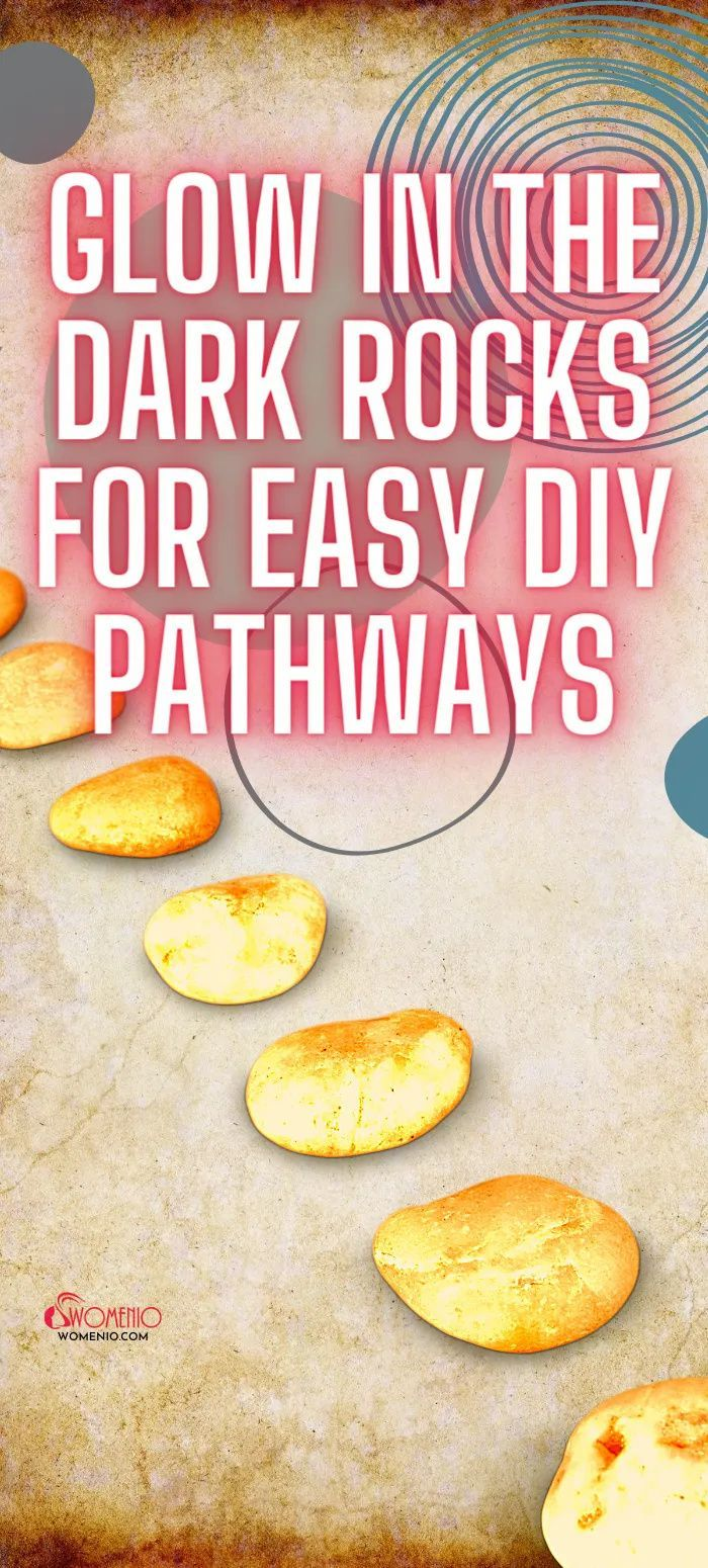 Easy DIY Pathways with Glow in the Dark Rocks in 2020