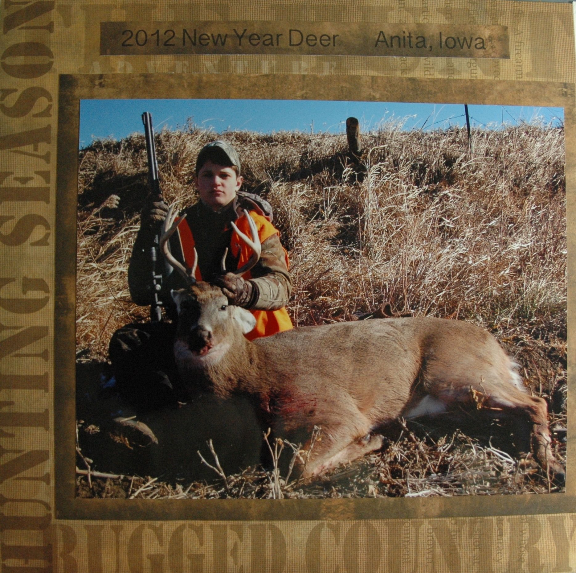 Scrapbooking Hunting New Year Deer 2012 Scrapbooking