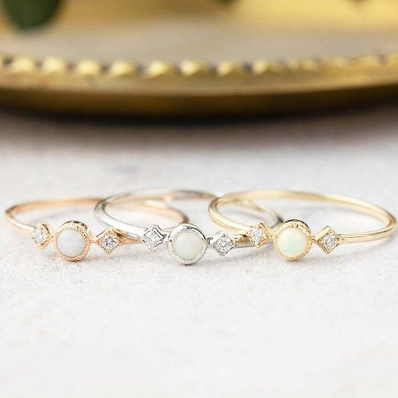 Photo of Moon & Star Ring – Opal