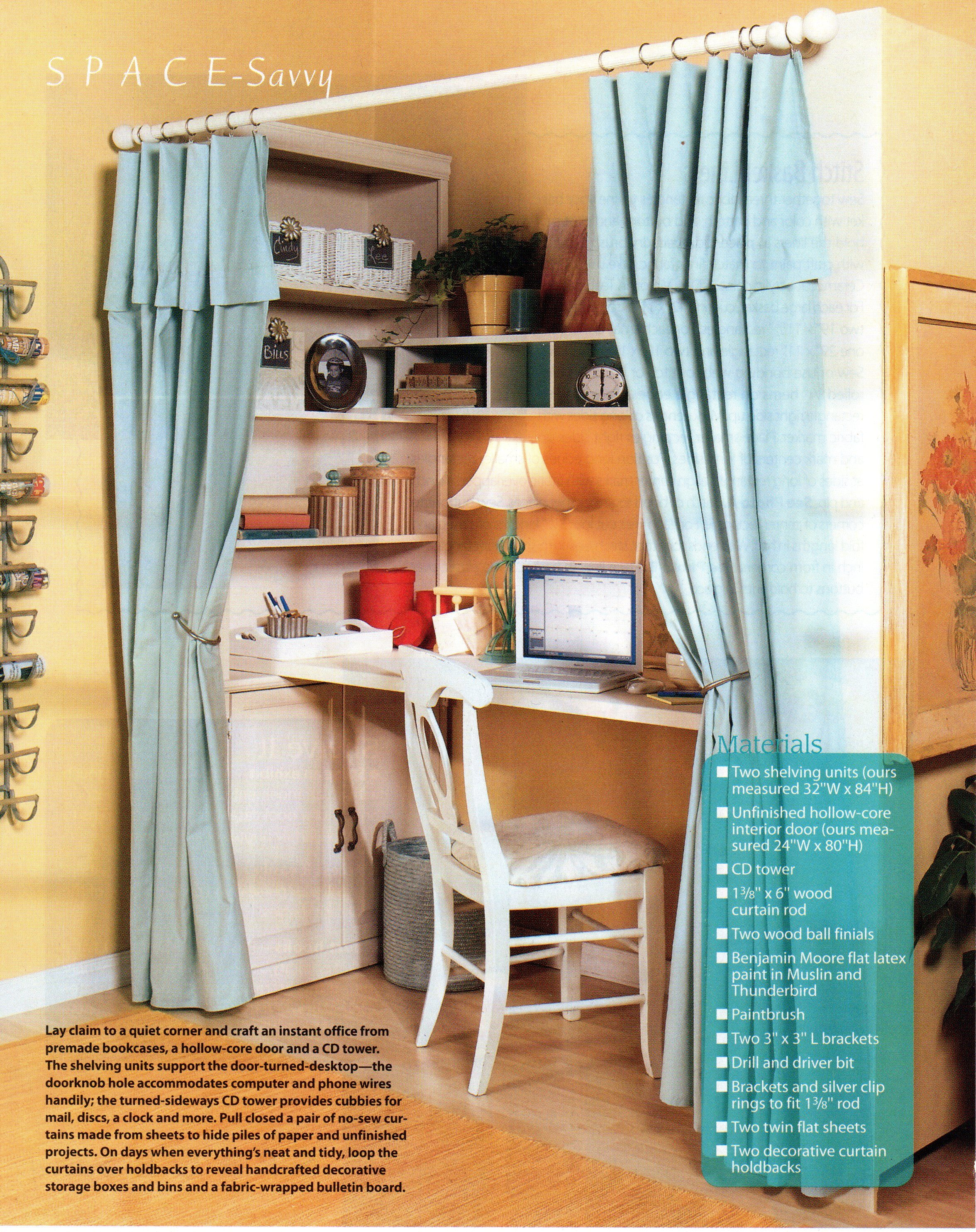Blue Curtain Closet Nook This Would Be So Nice For