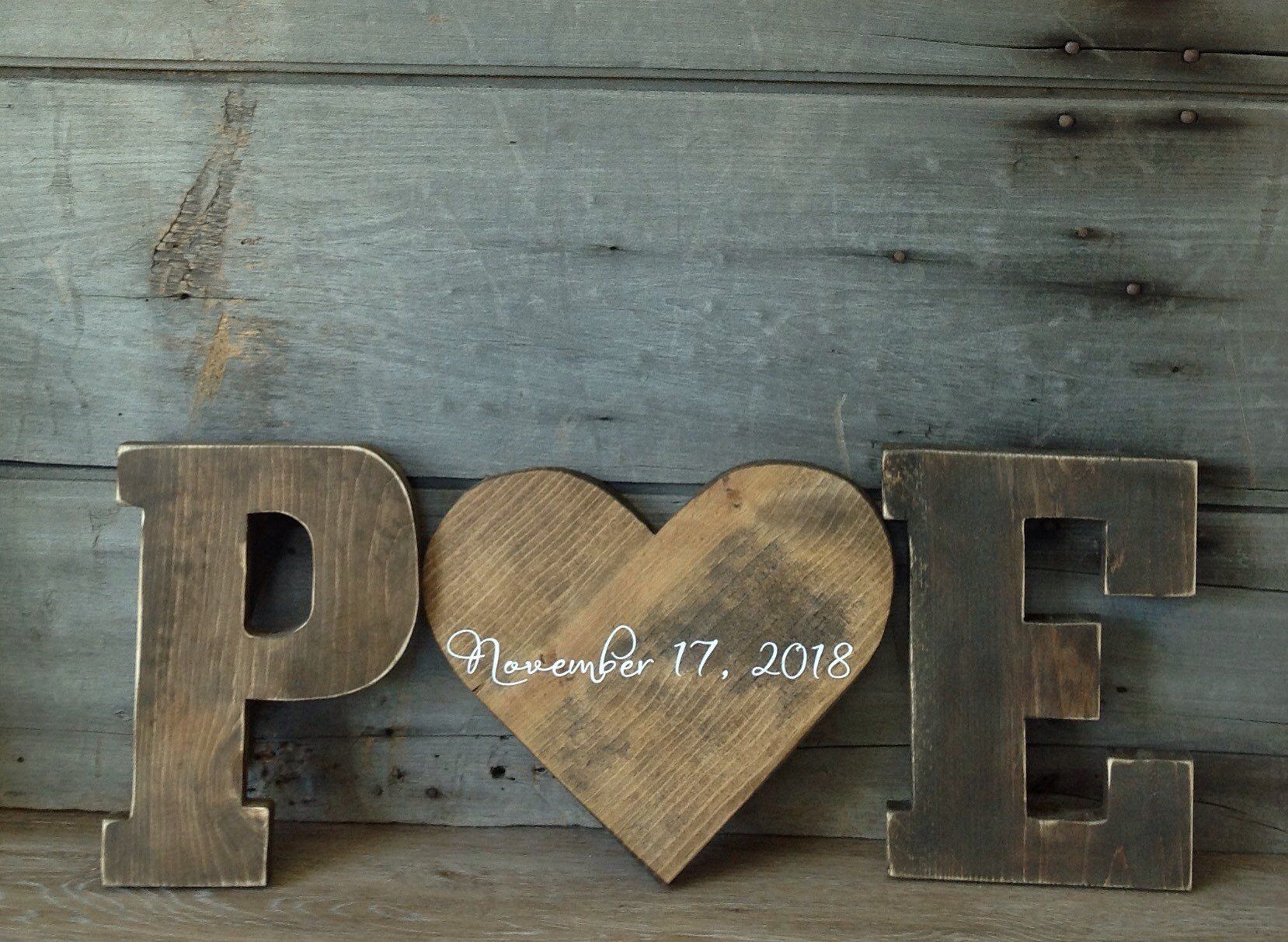 Barn Wood Letters Measuring 12 Inches Tall 2 Letters And A Etsy Rustic Letters Barn Wood Wood Letters