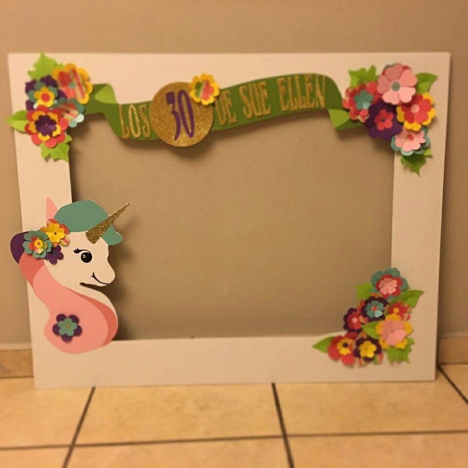Hermoso marco para fotos con tema de unicornio realizado por ...
