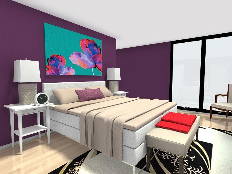 Wall Decor Ideas Bedroom Unique Bedroom Decorating Ideas  Bedroom With Dark Purple Wall Color Decorating Design