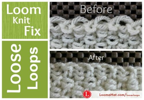 Loom Knitting Stitches Too Loose : Loose Loops are left behind when you finish loom knitting. Tighten these unsi...