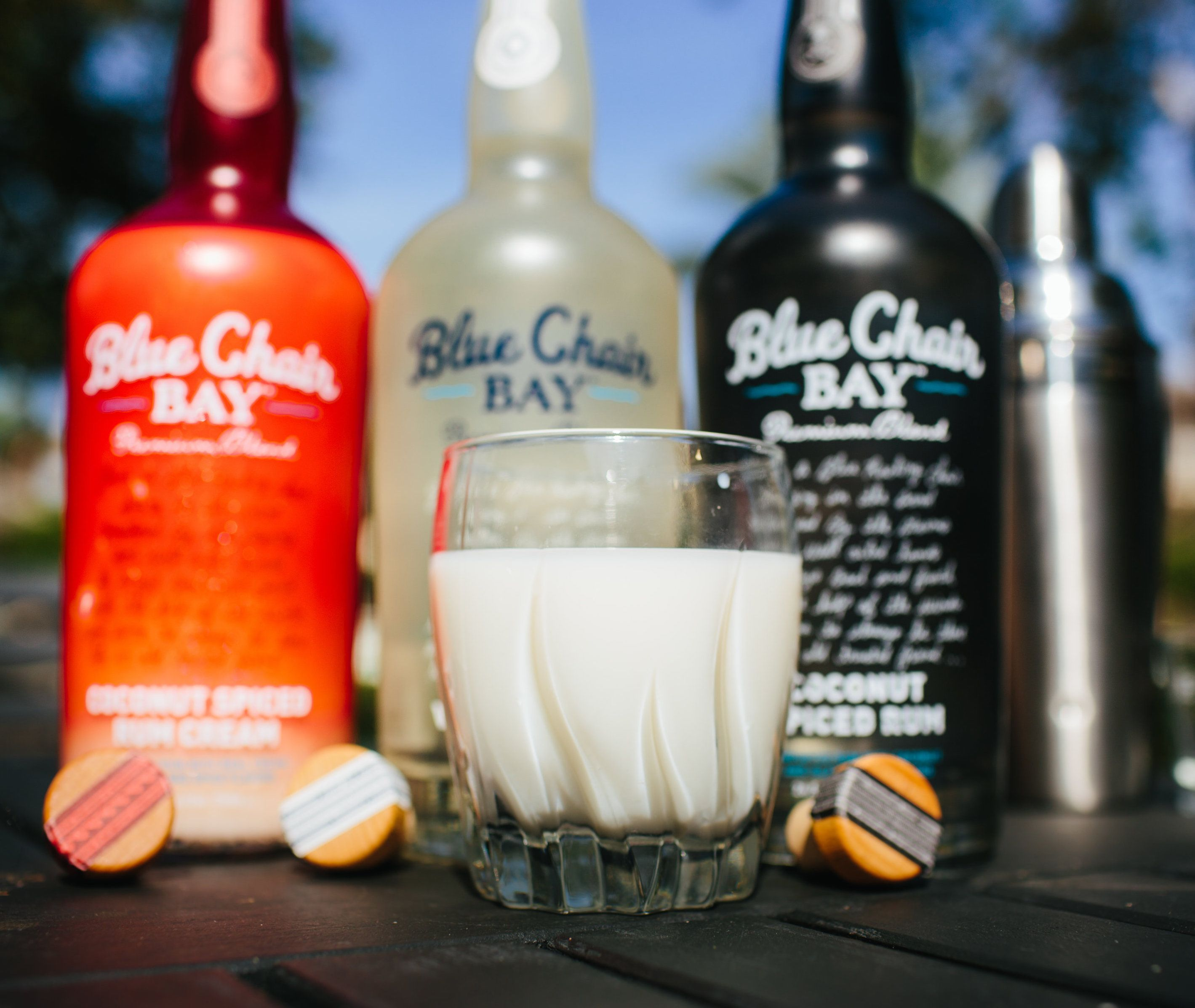 CHRISTMAS IN JULY COCKTAIL // 2 Oz. Blue Chair Bay Coconut Spiced Rum Cream