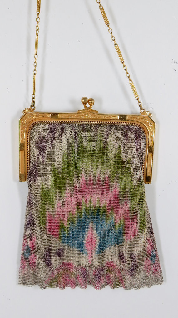 Gold Vintage Purse Vintage Evening Bag Vintage Mesh Purse Antique Bag Mesh 1920s Roaring 20s 1920s Purse 1920s Dress Vintage Bag