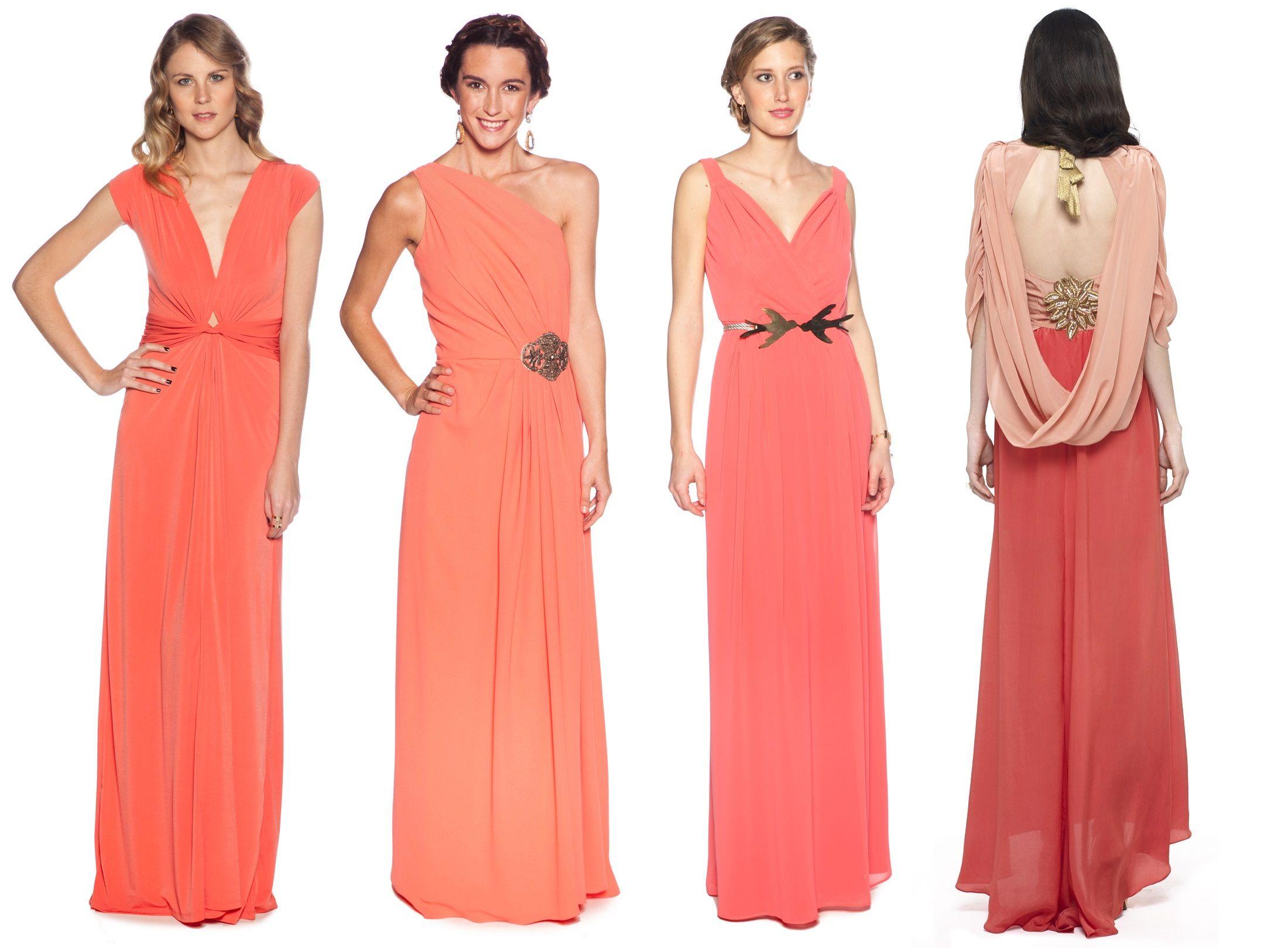 Coral EnInvitadas De Color Vestidos Alquiler 8knwOXN0PZ