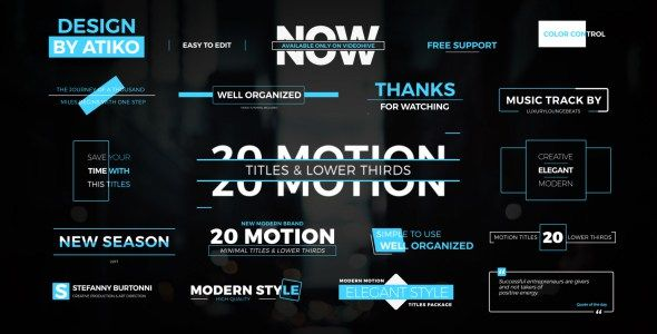 VIDEOHIVE MOTION TITLES LOWER THIRDS FREE DOWNLOAD Free After - After effects template editing