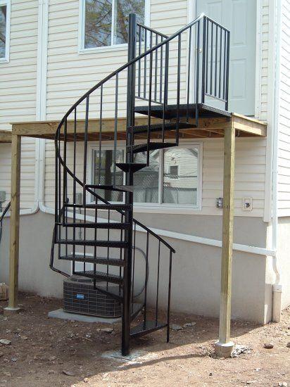 Exterior Spiral Staircase Installation Included Spiral | Installing A Spiral Staircase | Bottom | Rectangular | Alcove | 20 Step | Circular