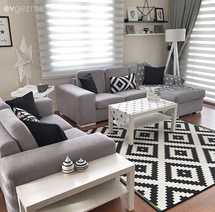 Derya hanımın modern stilde uyumlu ve zevkli evi.. | Wohnzimmer ...
