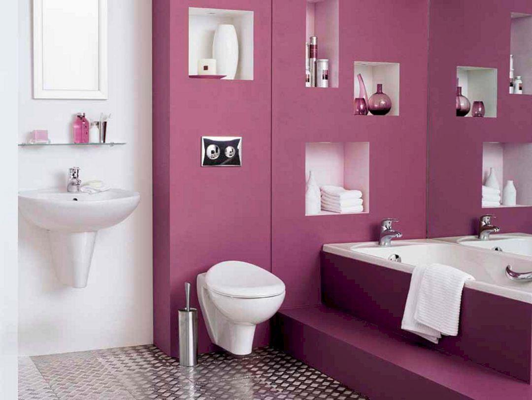 25 Gorgeous Bathroom Colorful Design Ideas For Inspiration Purple Bathrooms Popular Bathroom Colors Pink Bathroom