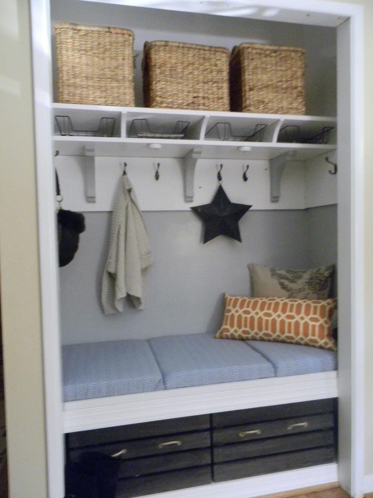turn a closet into a mudroom - Google Search