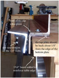 Diy Sheet Metal Bending Brake Welding Table Pinterest