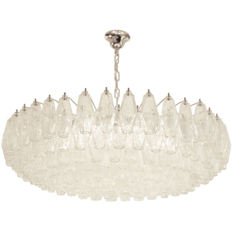 Venini polyhedral clear glass chandelier chandeliers pendant venini polyhedral clear glass chandelier aloadofball Images