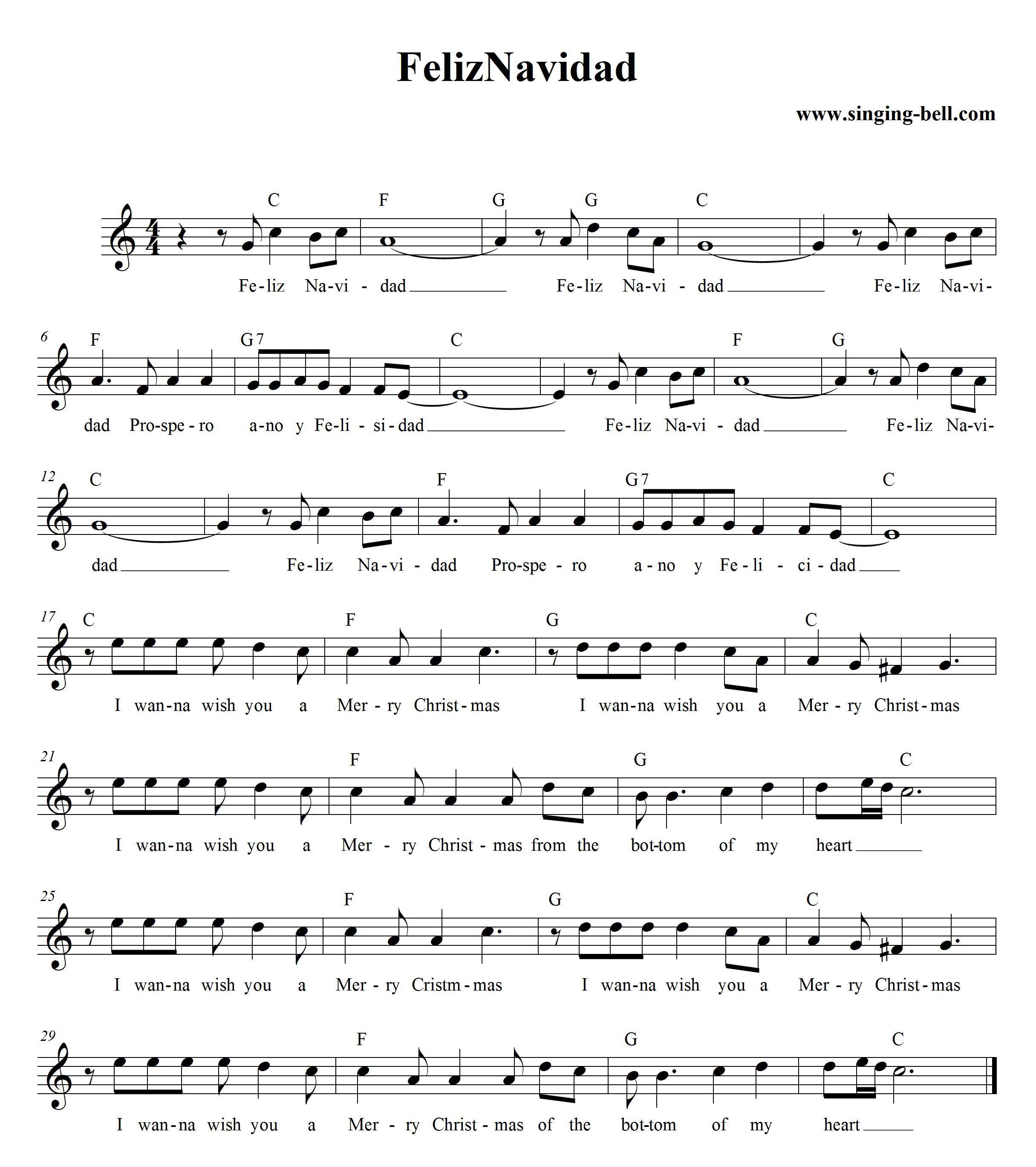 Free Printable Sheet Music For Piano: Navidad, Sheet Music And Pianos